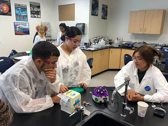 Students in Lab Coats